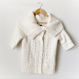 2/$22 Express White Short Sleeve Knit Sweater S
